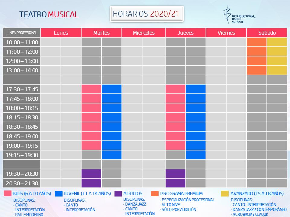 horarios teatro musical profesional escuela internacional de danza international dance school alicante 2020 2021 v2