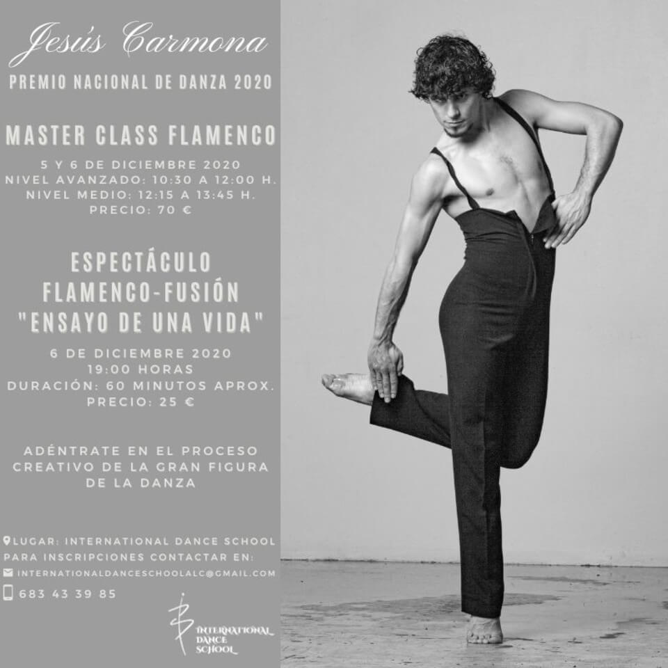 jesus carmona master class flamenco cartel international dance school ids alicante